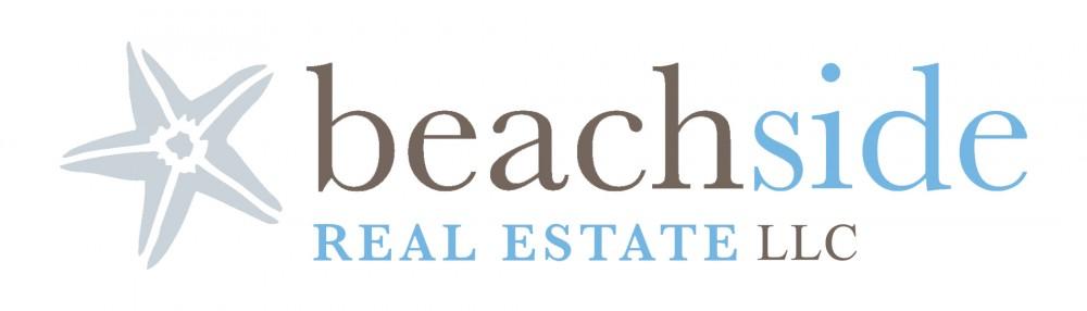 beachside real estate logo with LLC